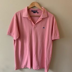 Vineyard Vines polo shirt men's pink large